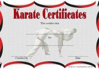 Karate Certificate Template 4