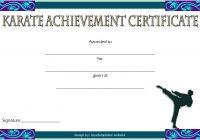 Karate Certificate Template 5