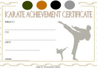 Karate Certificate Template 6