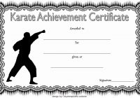 Karate Certificate Template 7
