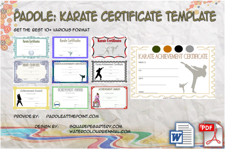 Permalink to Karate Certificate Template – 10+ Great Fighter Awards