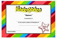 Kindergarten Completion Certificate Template 1