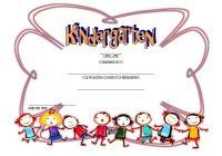 Kindergarten Completion Certificate Template