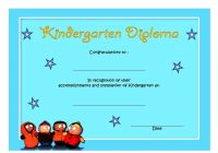 Kindergarten Diploma Certificate Template 5