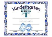 Kindergarten Graduation Certificate Printable 2