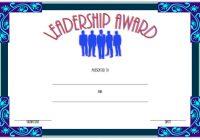 Leadership Award Certificate Template 2