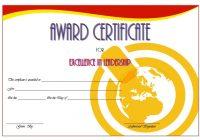 Leadership Award Certificate Template 3
