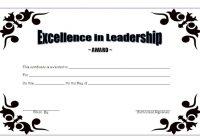 Leadership Award Certificate Template 5