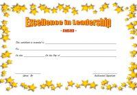Leadership Award Certificate Template 6
