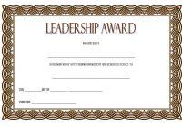 Leadership Award Certificate Template 7