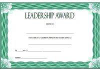Leadership Award Certificate Template 8