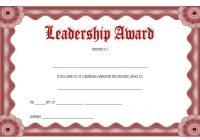 Leadership Award Certificate Template 9