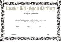 Lifeway VBS Certificate Template 1