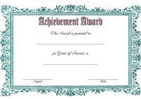 Long Service Award Certificate Template 1