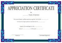 Long Service Award Certificate Template 7
