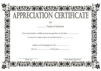 Long Service Award Certificate Template 8