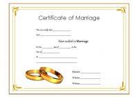 Marriage Certificate Editable Template 1