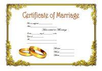 Marriage Certificate Editable Template 2