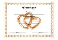 Marriage Certificate Editable Template 3