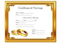 Marriage Certificate Editable Template