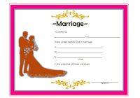 Marriage Certificate Editable Template 4