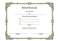 Marriage Certificate Editable Template 5