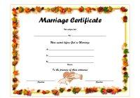 Marriage Certificate Editable Template 6