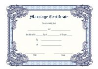 Marriage Certificate Editable Template 7