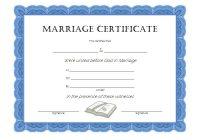 Marriage Certificate Editable Template 8