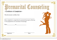 Marriage Counseling Certificate Template 4