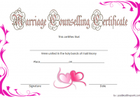 Marriage Counseling Certificate Template 5
