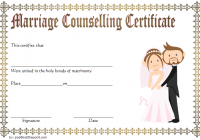 Marriage Counseling Certificate Template 7