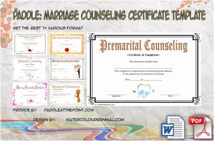 Permalink to Marriage Counseling Certificate Template: 7+ Premium Designs