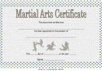 Martial Arts Certificate Template 1