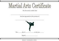 Martial Arts Certificate Template 2
