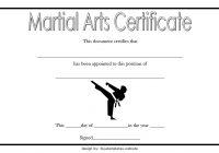 Martial Arts Certificate Template 3