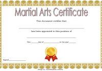 Martial Arts Certificate Template 4