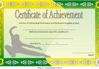 Martial Arts Certificate Template 5