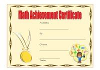 Math Achievement Certificate Template 5