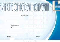 Math Achievement Certificate Template 7