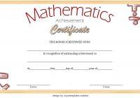 Math Achievement Certificate Template 9