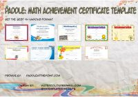 Math Achievement Certificate Templates by Paddle