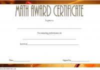 Math Award Certificate Template 1