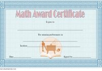 Math Award Certificate Template 2