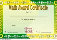 Math Award Certificate Template 3