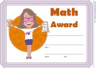 Math Award Certificate Template 4