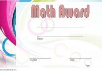 Math Award Certificate Template 6