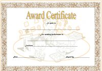 Math Award Certificate Template 7