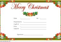 Merry Christmast Gift Certificate Template 1