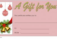 Merry Christmast Gift Certificate Template 10